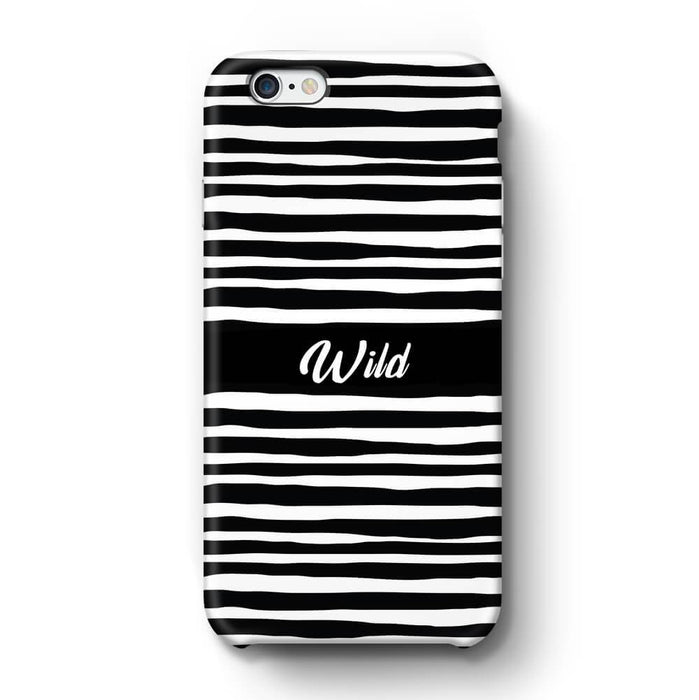 Black & White Patterns with Initial iPhone 6 Plus 3D Custom Phone Case wild design
