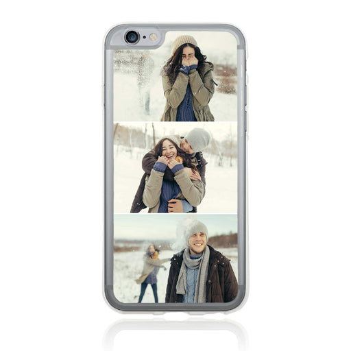 3 Photo Collage - iPhone 6 Plus Clear Phone Case