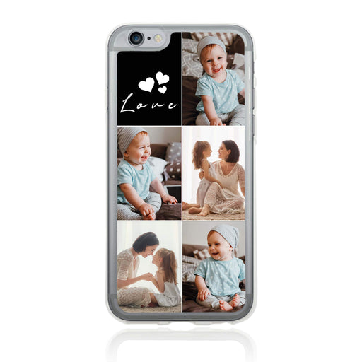 5 Photo Collage - iPhone 6 Plus Clear Phone Case