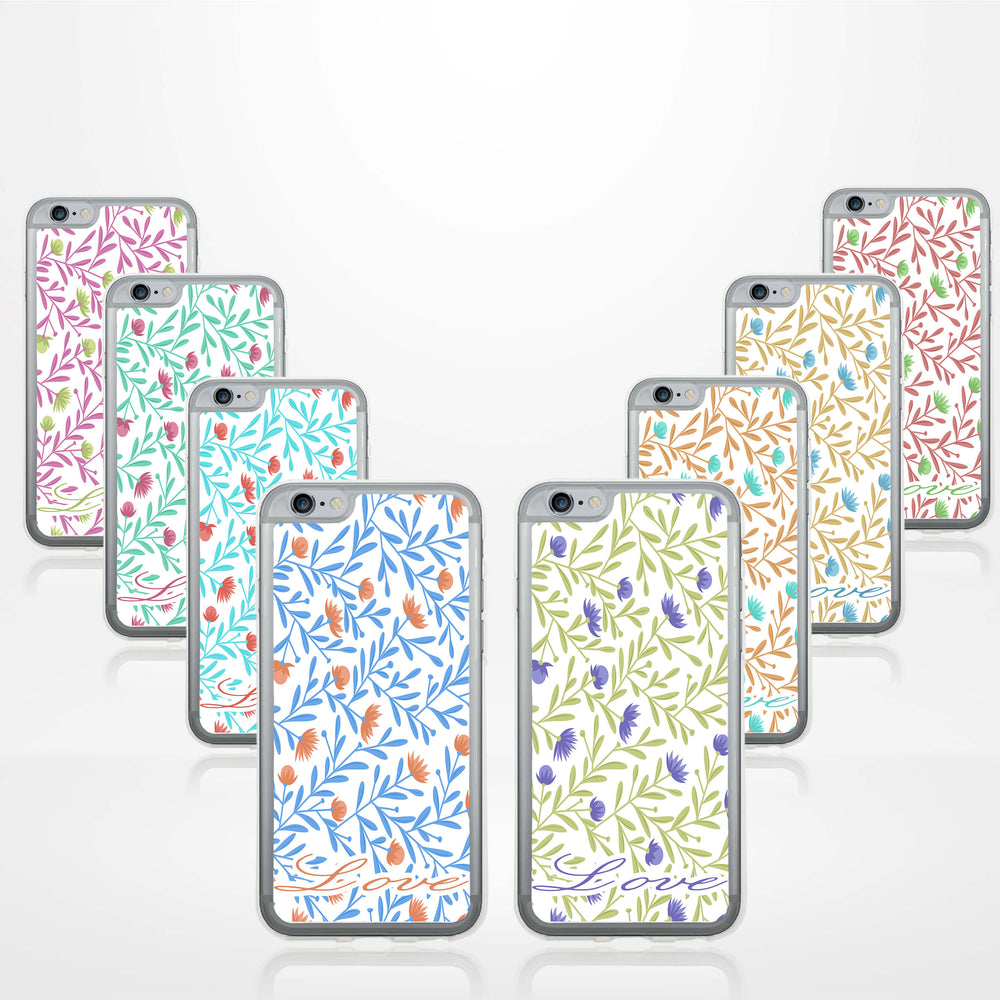 Floral Design with Name - iPhone 6 Plus Clear Phone Case design-your-gift.
