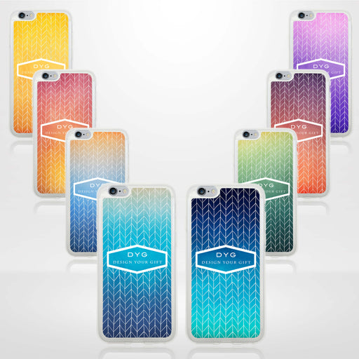ZigZag Ombre with your Text - iPhone 6 Plus Clear Phone Case