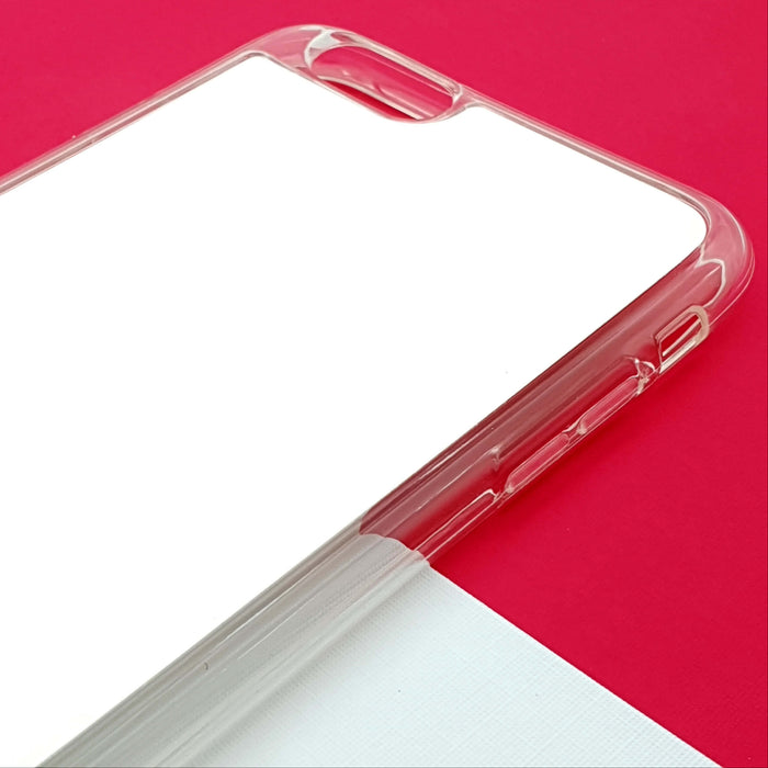 Blank iPhone 6 Clear Phone Case | Text Phone Case | ZigZag Ombre