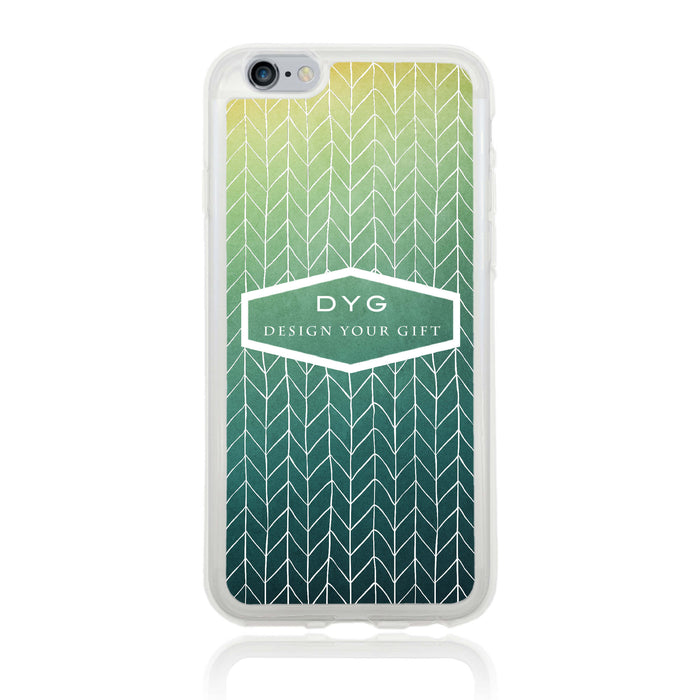 iPhone 6 Clear Phone Case | Text Phone Case | ZigZag Ombre - green lake colours design