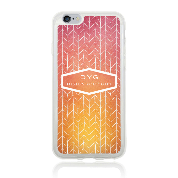 iPhone 6 Clear Phone Case | Text Phone Case | ZigZag Ombre - hot summer colours design