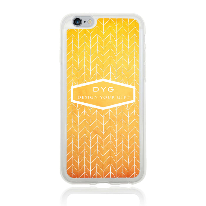 iPhone 6 Clear Phone Case | Text Phone Case | ZigZag Ombre - summer colours design