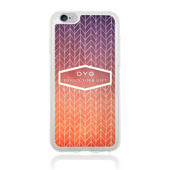 iPhone 6 Clear Phone Case | Text Phone Case | ZigZag Ombre - sunset colours design