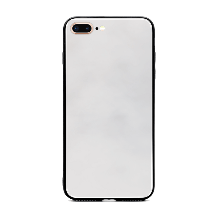 Blank iPhone 7+ Glass phone case with Back rubber edges