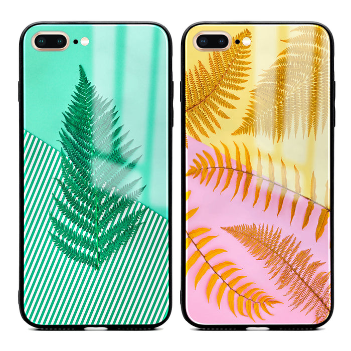 iphone 7+ glass phone case with feria unique designs available in 2 design variants