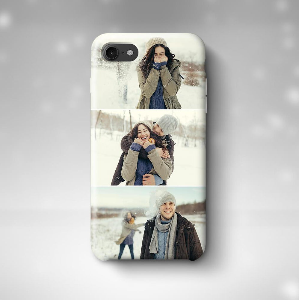 3 Photo Collage Phone 7 3D Personalised Phone Case designyourgift.co.uk