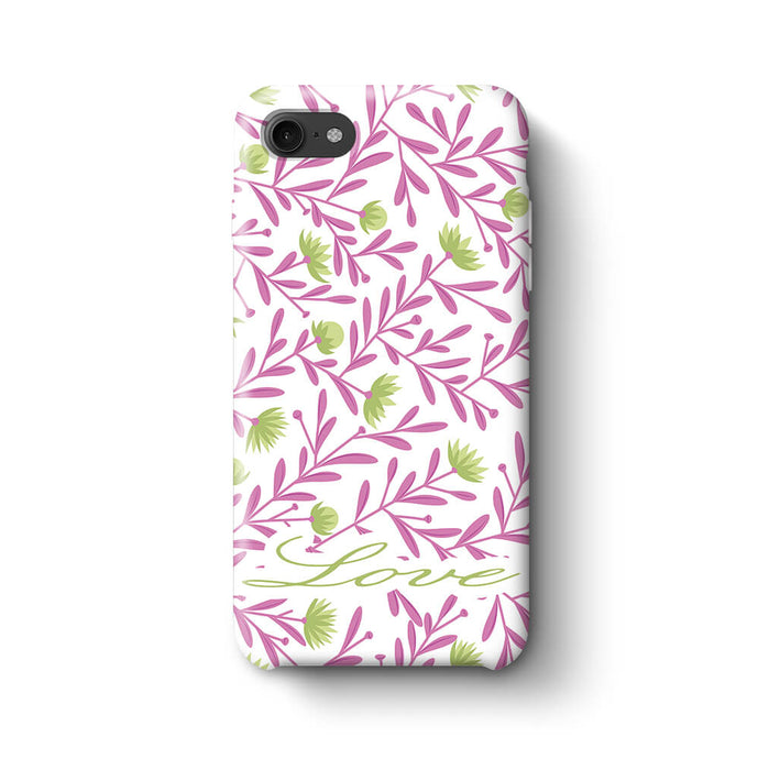 Floral Design with Name Phone 7 3D Custom Phone Case variant 6