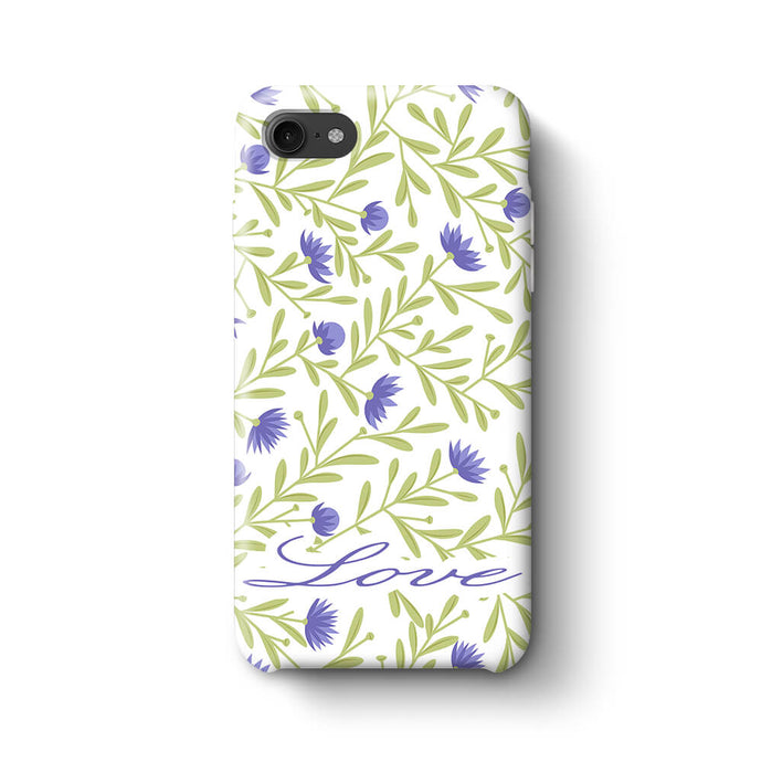 Floral Design with Name Phone 7 3D Custom Phone Case variant 9