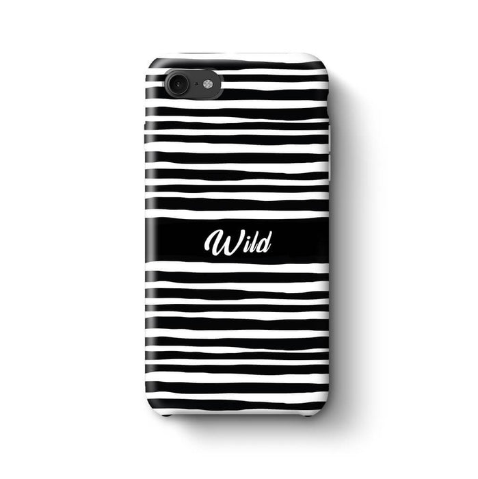 Black & White Patterns with Initial iPhone 7 3D Custom Phone Case wild design