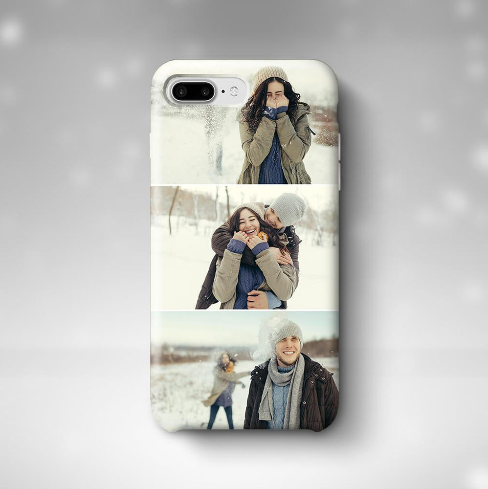 3 Photo Collage Phone 7 Plus 3D Personalised Phone Case designyourgift.co.uk