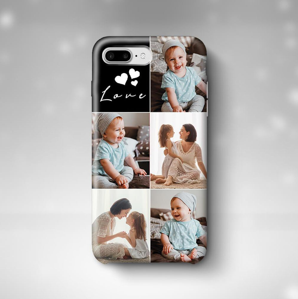 5 Photo Collage iPhone 7 Plus 3D Personalised Phone Case designyourgift.co.uk