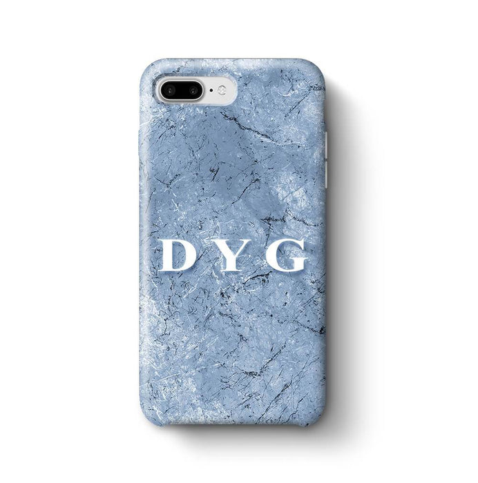 Blue Marble With Initials iPhone 7 Plus 3D Custom Phone Case blue cave