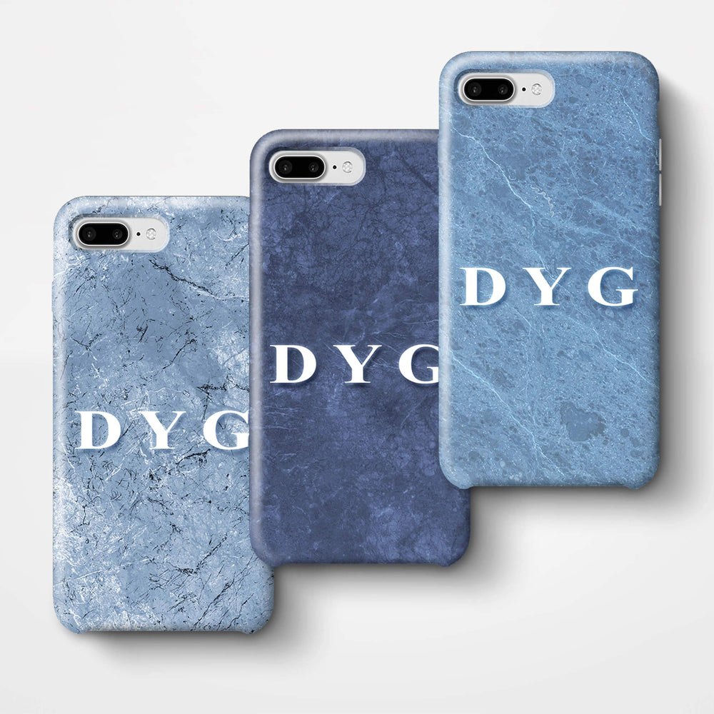 Blue Marble With Initials iPhone 7 Plus 3D Custom Phone Case 3 variants