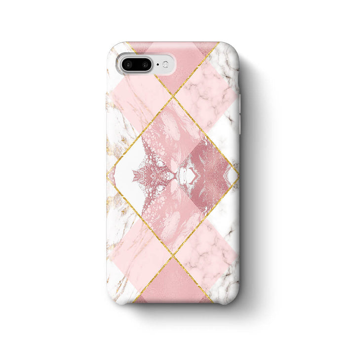 Rose Marble & Geometric Patterns - iPhone 7 Plus 3D Phone Case design-your-gift.