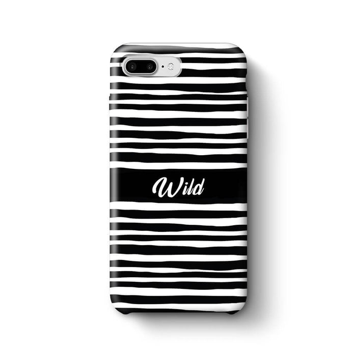 Black & White Patterns with Initial iPhone 7 Plus 3D Custom Phone Case wild design