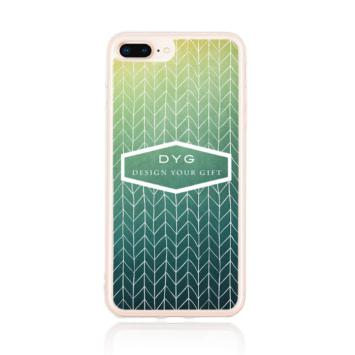 ZigZag Ombre with your Text - iPhone 7 Plus Clear Phone Case design-your-gift.