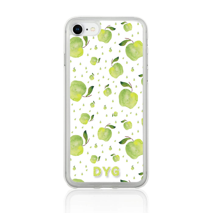 Fruity Design with Initials - iPhone 7 Clear Phone Case - Apple Design