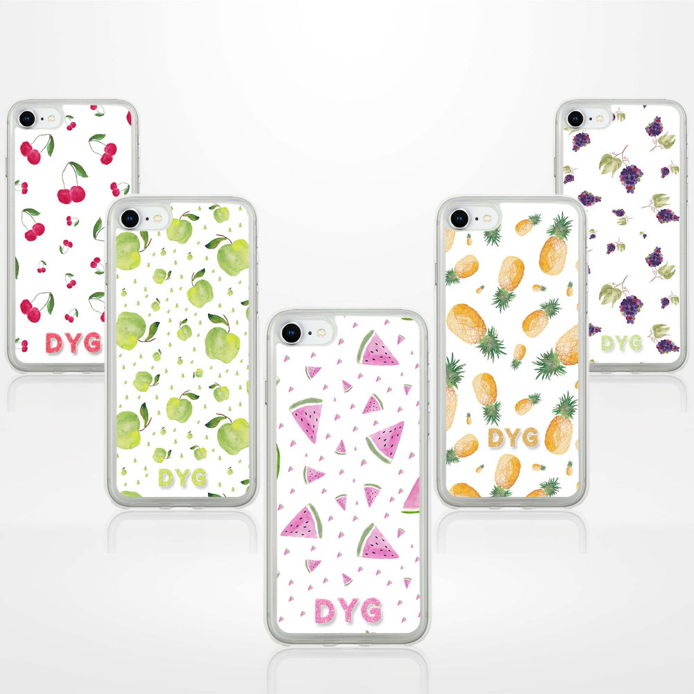 Fruity Design with Initials - iPhone 7 Clear Phone Case