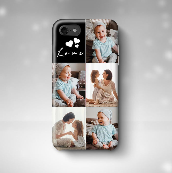 5 Photo Collage iPhone 8 3D Personalised Phone Case designyourgift.co.uk