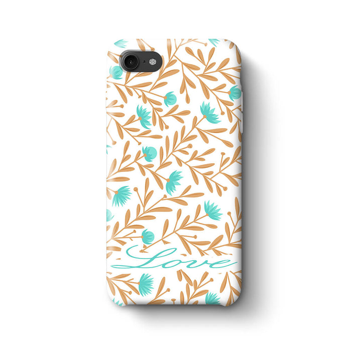 Floral Design with Name Phone 8 3D Custom Phone Case variant 1