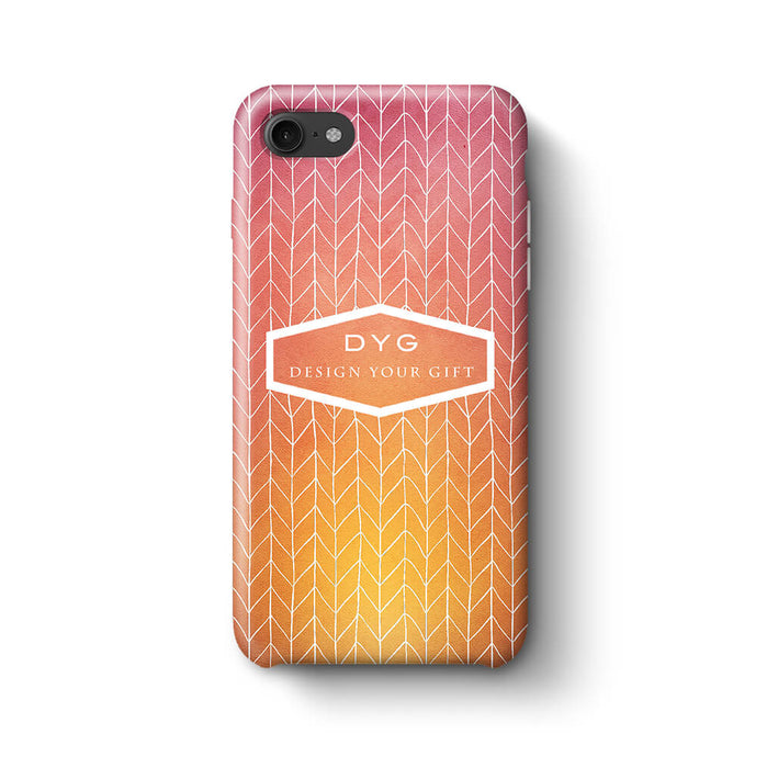 ZigZag Ombre With Text iPhone 8 3D Personalised Phone Case hot summer
