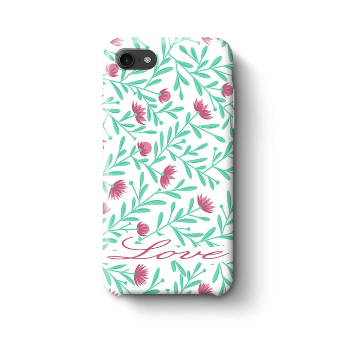 Floral Design with Name Phone 8 3D Custom Phone Case variant 5