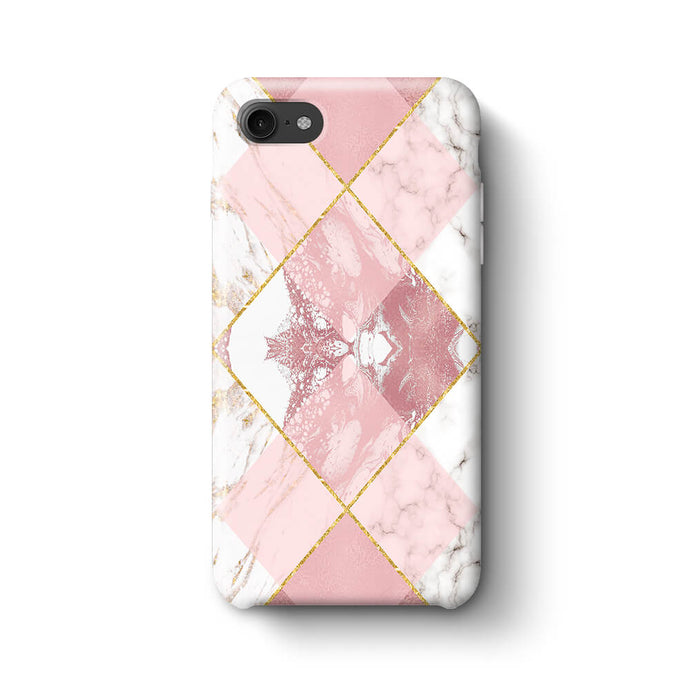 Rose Marble & Geometric Patterns iPhone 8 3D Phone Case design 1