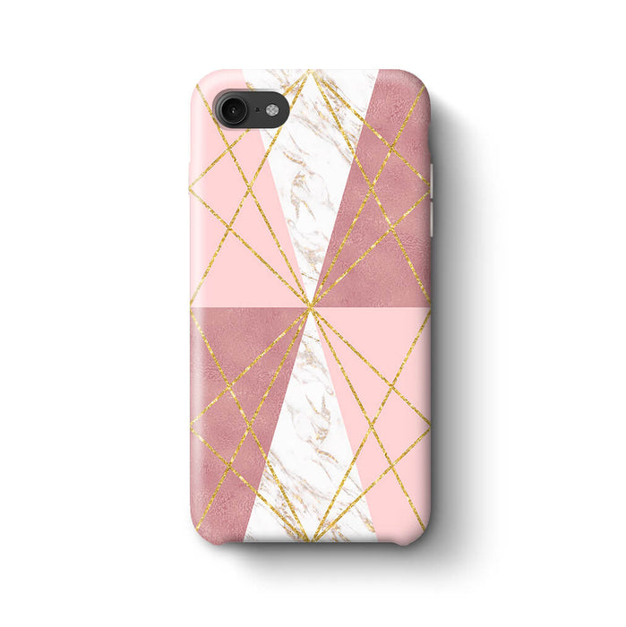 Rose Marble & Geometric Patterns iPhone 8 3D Phone Case design 2