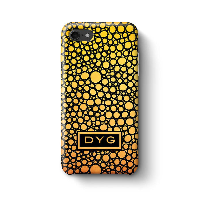 Bubbles Hollow with initials iPhone 8 3D Personalised Phone Case summer