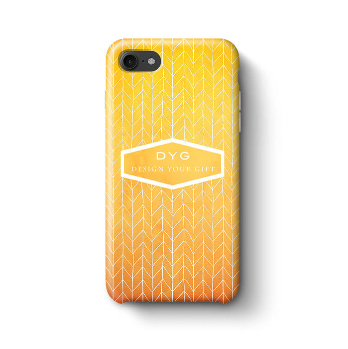 ZigZag Ombre With Text iPhone 8 3D Personalised Phone Case summer