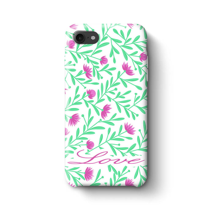 Floral Design with Name Phone 8 3D Custom Phone Case variant 3