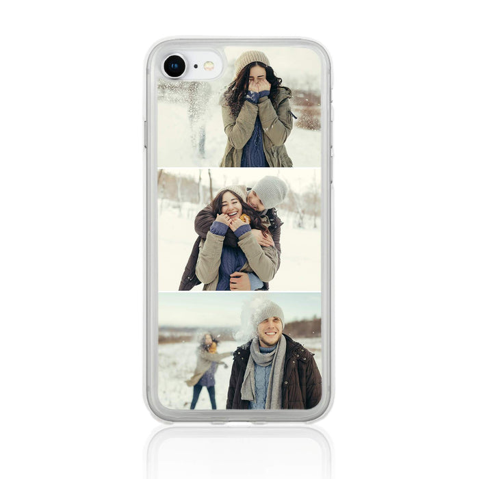 iPhone 8 Clear Phone Case | 3 Photos Phone Case
