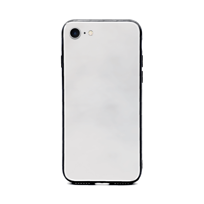 Blank iPhone 8 Glass phone case with Back rubber edges