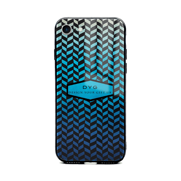 Hollow Geometric Pattern with Text - iPhone 8 Glass Phone Case design-your-gift.
