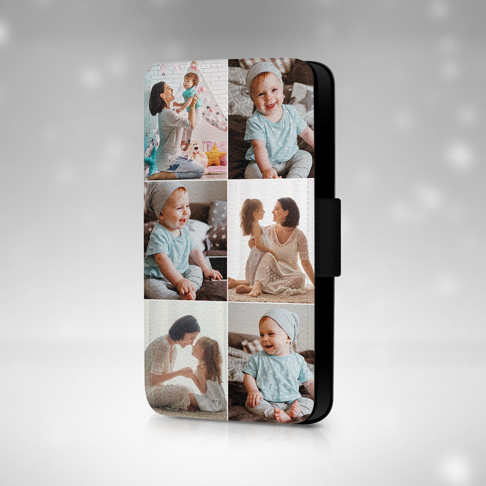 Personalised iPhone 8 Plus Wallet Phone Case | 6 Photos Case