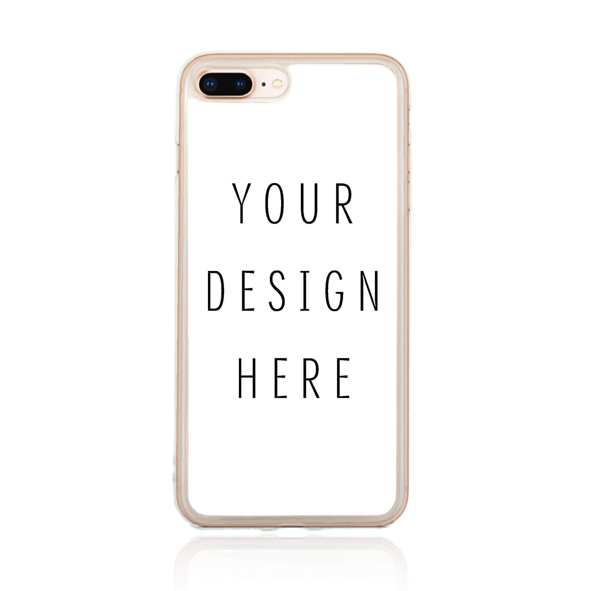 Design Your iPhone 8 Plus Clear Phone Case | Custom Case