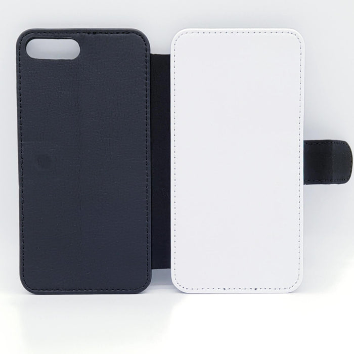 3 Photo Collage | iPhone 8 Plus Wallet Phone Case - back and front blank visual
