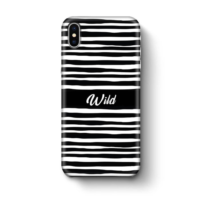 Black & White Patterns with Initial iPhone X 3D Custom Phone Case wild design
