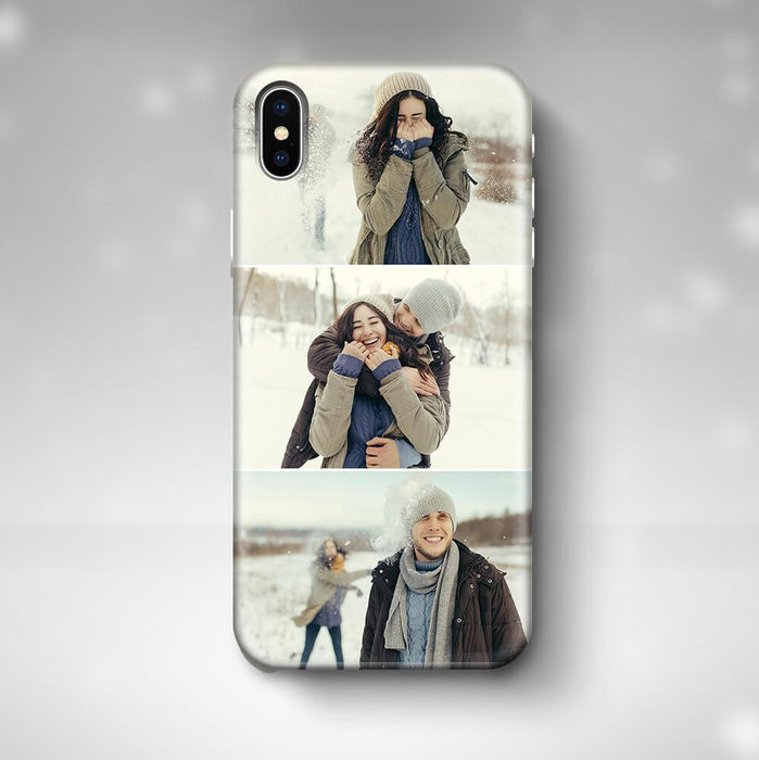 3 Photo Collage iPhone X 3D Personalised Phone Case designyourgift.co.uk