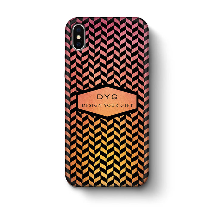 Geometric Hollow Design With Text iPhone X 3D Custom Phone Case hot summer