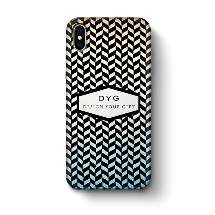 Geometric Hollow Design With Text iPhone X 3D Custom Phone Case sky