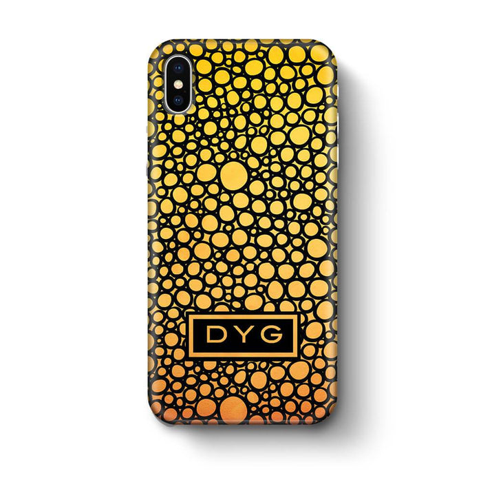 Bubbles Hollow with initials iPhone X 3D Personalised Phone Case summer