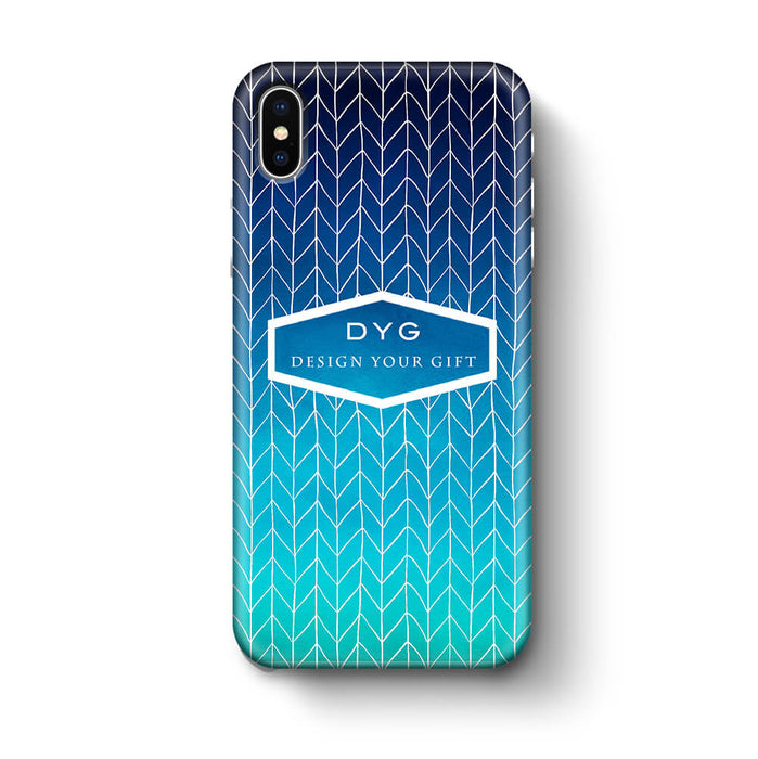 ZigZag Ombre With Text - iPhone 3D Personalised Phone Case design-your-gift.