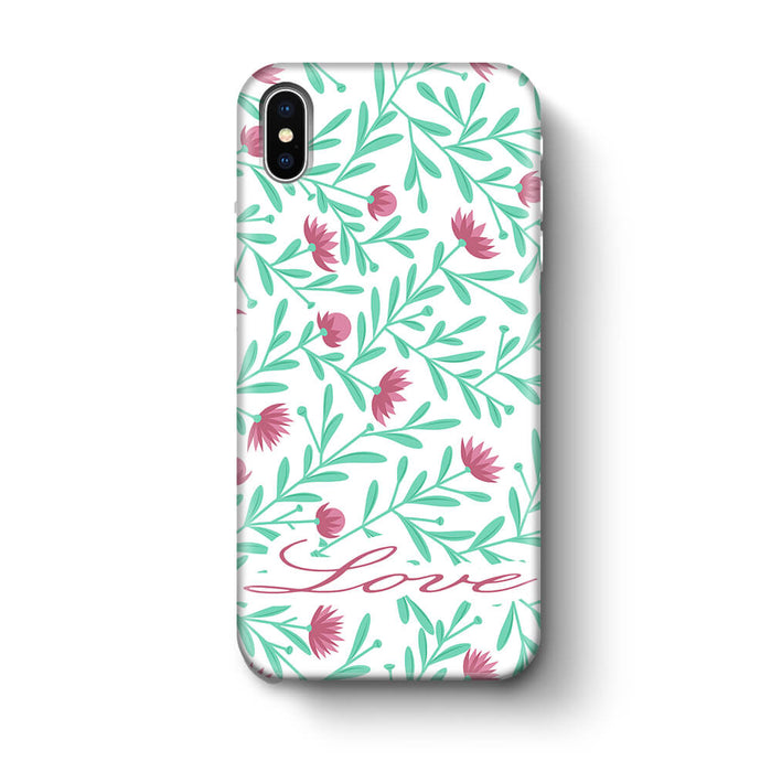 Floral Design with Name iPhone X 3D Custom Phone Case variant 5