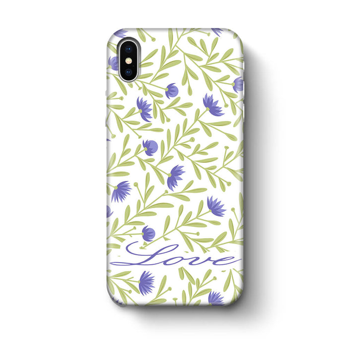Floral Design with Name iPhone X 3D Custom Phone Case variant 9
