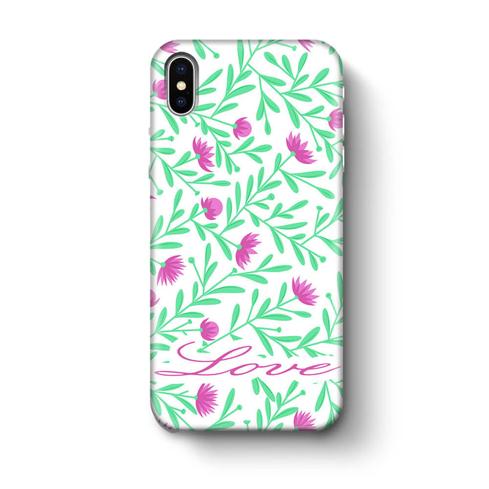 Floral Design with Name iPhone X 3D Custom Phone Case variant 3