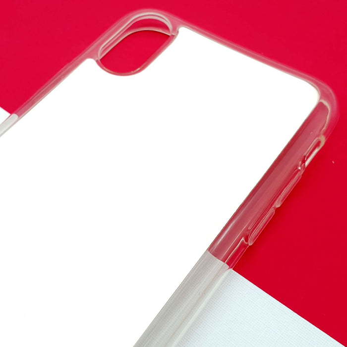 ZigZag Ombre with your Text - iPhone X Clear Phone Case Blank